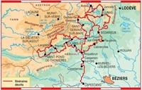 Plan topoguide tours dans le Pays Haut Languedoc et Vignobles