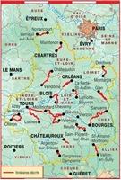 Plan Topoguide randonnées en Centre - Val-de-Loire de gare en gare