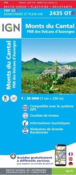 Carte Monts du Cantal PNR des Volcans d'Auvergne (RÉSISTANTE)