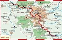 Carte Topoguide La Seine à pied en Île-de-France