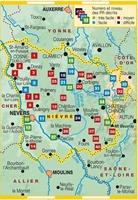Carte la Nièvre à pied