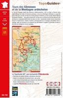 Carte topoguide tours des Cévennes et de la montagne ardéchoise