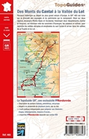 Carte topoguide des monts du Cantal à la vallée du Lot - GR465