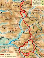 Carte Topoguide La Traversée des Alpes - De la Maurienne à l'Ubaye - GR® 5