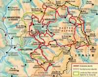 Carte Topoguide Tour du Queyras GR® 58 - Parc naturel régional du Queyras