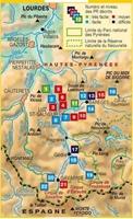 Carte topoguide vallées du pays de Toy - Barèges Gavarnie Parc national des Pyrénées