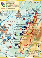 Carte topoguide De Valence au Vercors à pied