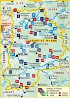Carte - La Seine-et-Marne... à pied®