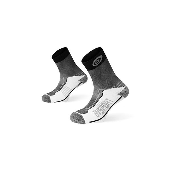 Mi-chaussettes double gris-noir BV Sport