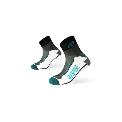 Socquettes double bleu-noir BV Sport