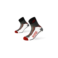Socquettes double rouge-noir BV Sport