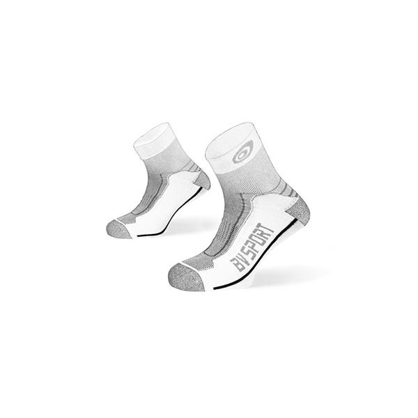 Socquettes double blanc-gris BV Sport