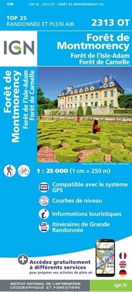 2313OT-Carte IGN Forêts de Montmorency, de l'Isle-Adam et de Carnelle