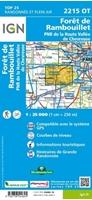 2215OT-Carte IGN Forêt De Rambouillet - PNR De La Haute-Vallée De Chevreuse (GPS)