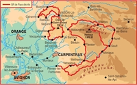 plan topoguide Mont Ventoux