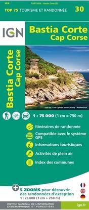 RECTO-Carte IGN Bastia Corte Cap Corse - TOP 75030