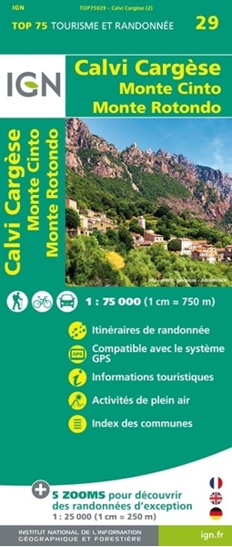 RECTO-Carte IGN Calvi Cargèse - TOP 75029
