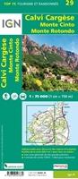 VERSO-Carte IGN Calvi Cargèse - TOP 75029
