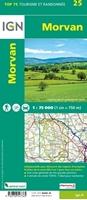 Carte IGN Morvan - TOP 75025