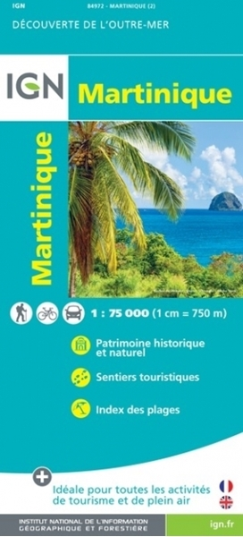 Recto-carte IGN - La Martinique