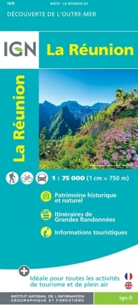 Recto-CARTE IGN de la Réunion