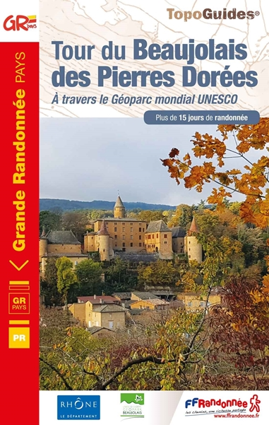couverture topoguide du tour du beaujolais