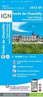 carte ign forêts de chantilly - 2412OT