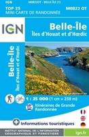 Belle-île/îles d'Houat et d'Hoedic - MINI TOP25 - carte IGN