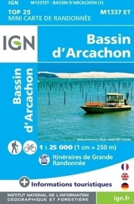 Bassin d'Arcachon - MINI TOP25 - carte IGN