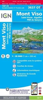 carte IGN - Mont-viso - Saint-veran - Aiguilles - pnr du queyras - RESISTANTE