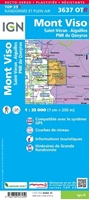 carte IGN - Mont-viso - Saint-veran - Aiguilles - pnr du queyras - RESISTANTE - verso