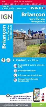carte IGN - Briançon - serre chevalier - mont genèvre - RESISTANTE