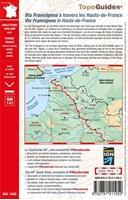carte et résumé topoguide Via Francigena : Canterbury - Reims