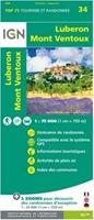 Carte IGN - Luberon - Mont Ventoux - TOP 75034