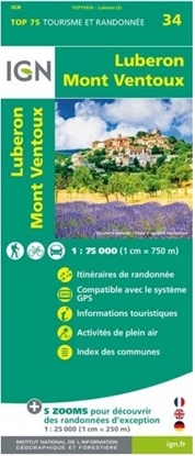 Carte IGN - Luberon - Mont Ventoux - TOP 75034