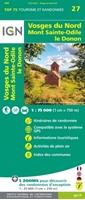 Carte IGN Vosges Du Nord - Mont Sainte Odile - Le Donon - TOP 75027