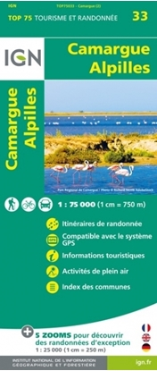 Carte IGN Camargue - Alpilles - TOP 75033