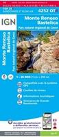 Carte IGN 4252OTR Monte-Renoso / Bastelica / PNR de la Corse (Résistante)-recto