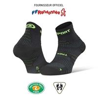 240-002-Socquettes TREK EVO noir-vert