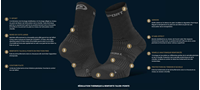 Synthése Technique-241-001-Chaussettes Tige Haute TREK EVO - noir-gris