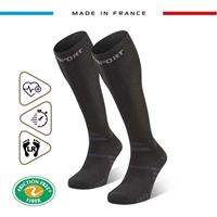 245-001-Chaussettes Trek compression EVO noir/gris