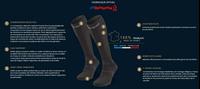 Détails Techniques-245-001-Chaussettes Trek compression EVO noir/gris