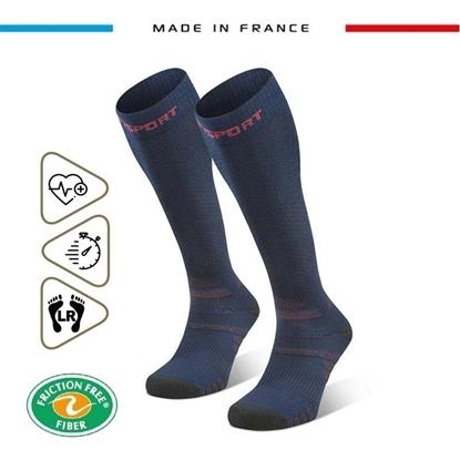 Image produit-245/002-Chaussettes Trek compression EVO Bleu/Rouge