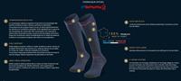 Image Fiche Technique-245/002-Chaussettes Trek compression EVO Bleu/Rouge