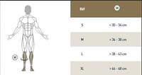 Guide des tailles Chaussettes Trek compression EVO