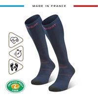 Image-245-005-Chaussettes Trek compression EVO Bleu/Rose