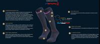 Détails Techniques-245-005-Chaussettes Trek compression EVO Bleu/Rose