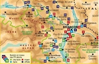 carte Topoguide les environs de Briançon