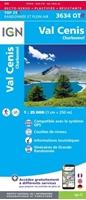 Image Carte IGN 3634OTR - Val-Cenis - Charbonnel - RESISTANTE
