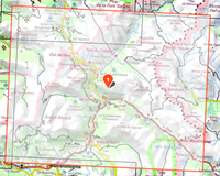 Image-situation-Carte IGN-3538ETR-Aiguille de Chambeyron - Cols de Larche et de Vars RESISTANTE